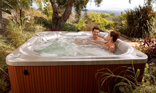 beam hot tub