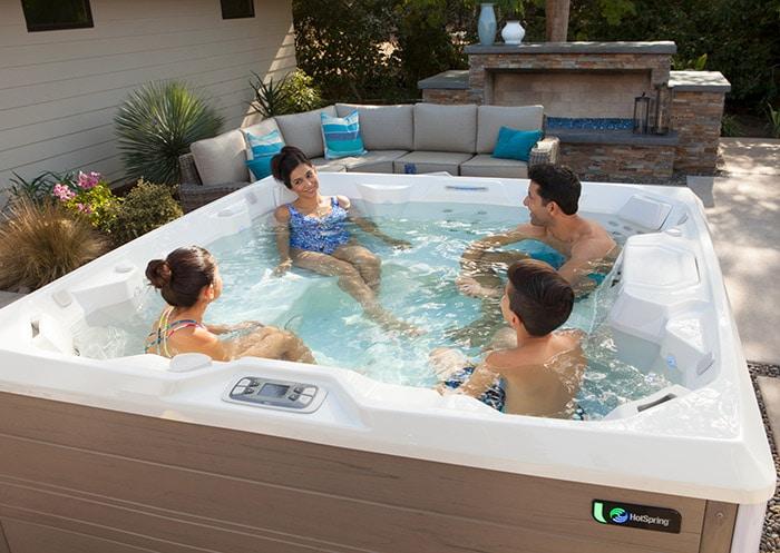 family enjoying pulse spa