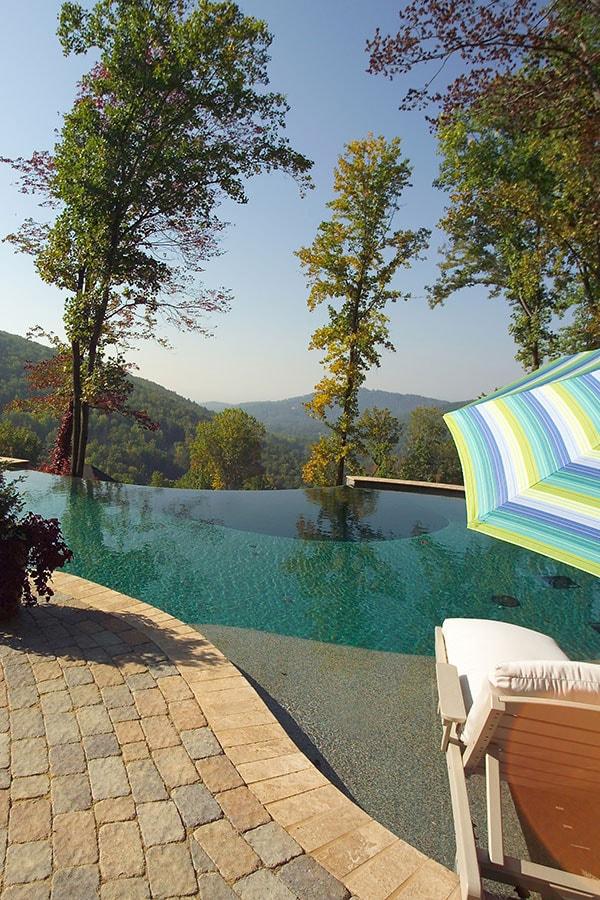 gunite pool with view