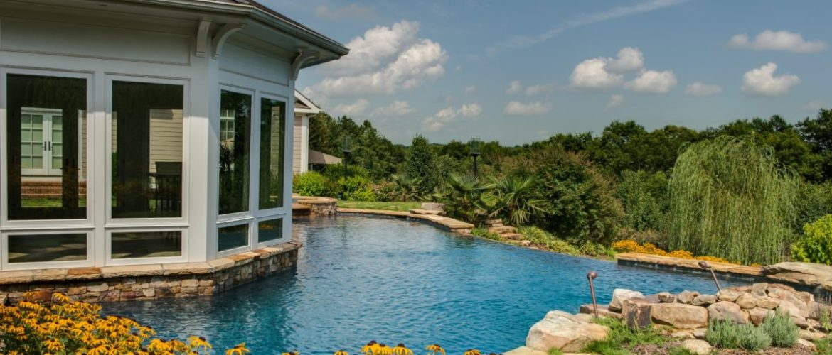 Gunite Pool with Negative Edge