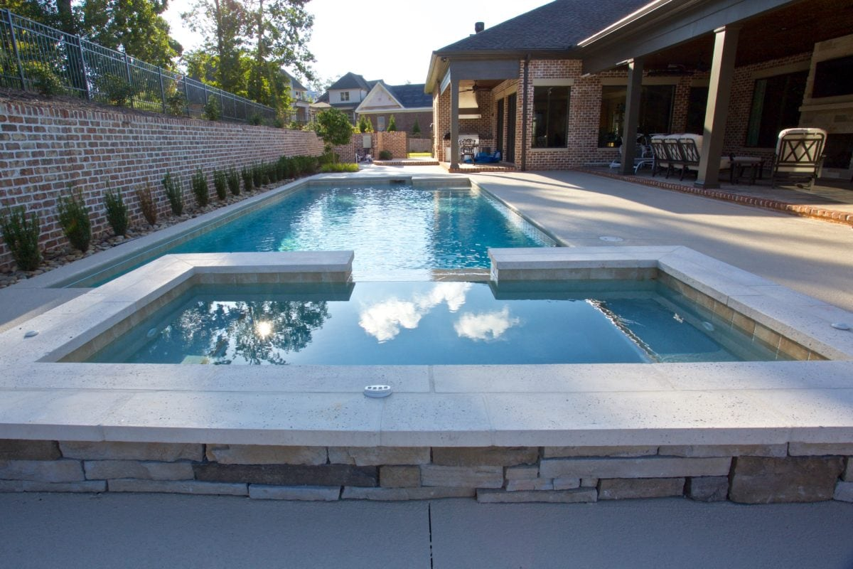 gunite concrete pool
