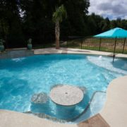 Gunite Pool with Table
