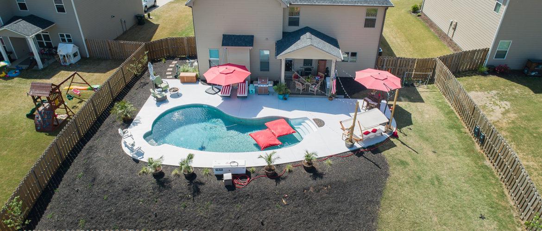 Vinyl Pool Backyard