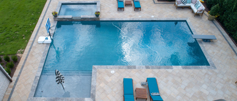 Gunite Pool with Spa
