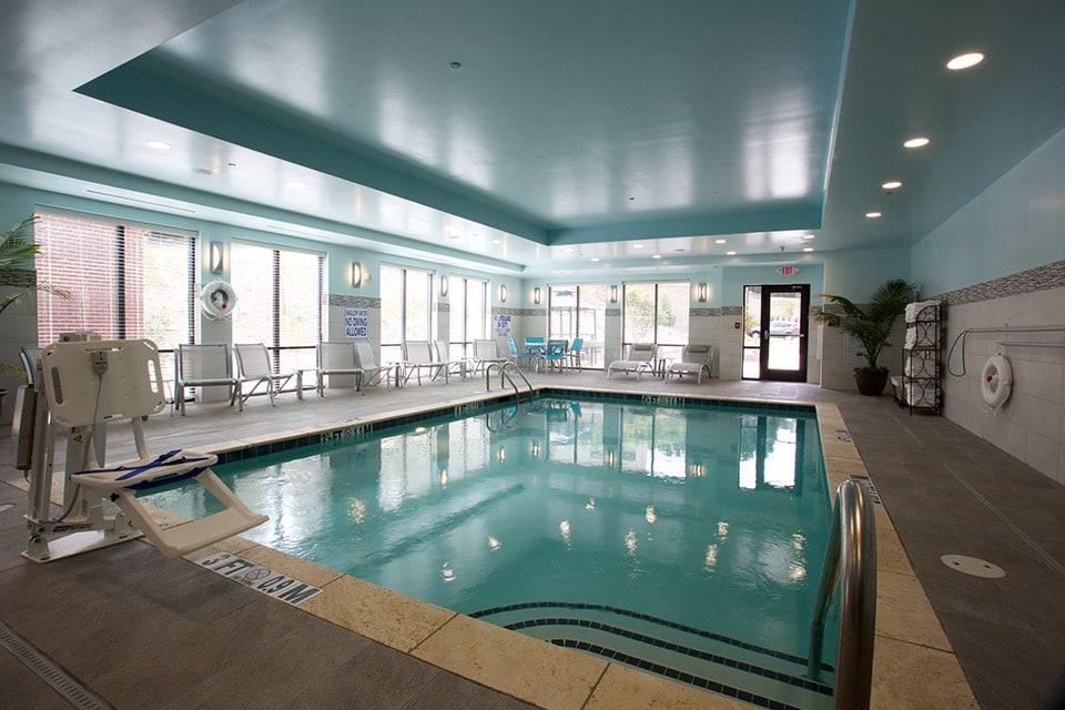 indoor hotel pool build