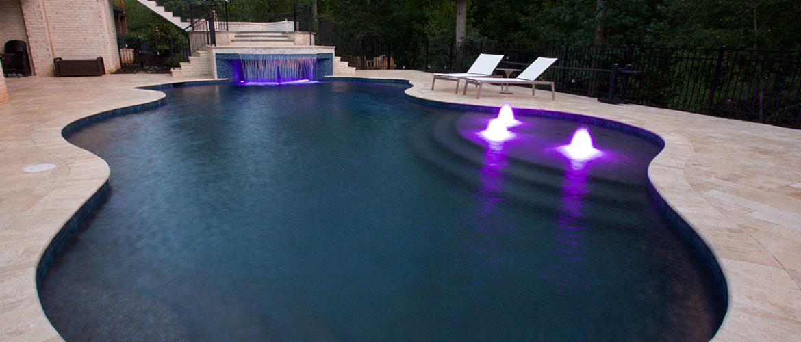 Gunite Pool with Bubblers