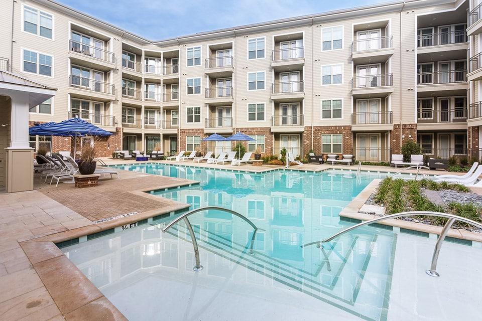 swimming pool at apartment