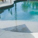 vinyl custom sundeck in pool