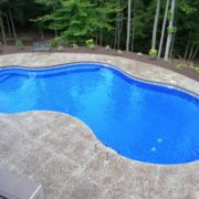 Vinyl Pool w/ Custom Bench