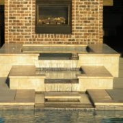 Gunite Pool w/ Negative Edge & Spillover Spa