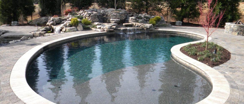 Gunite Pool w/ Rock Waterfall