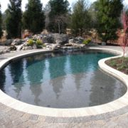 Gunite Pool w/ Rock Waterfall