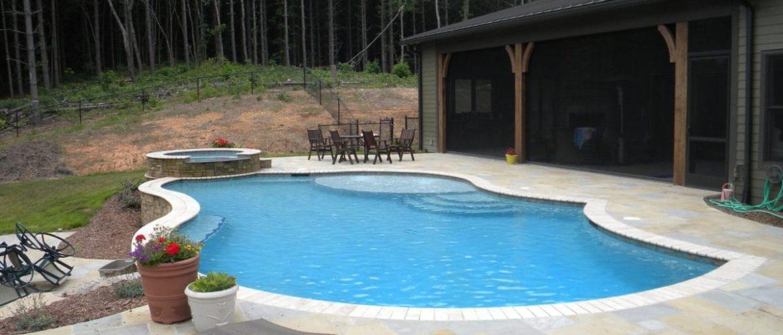 Exposed Beam Gunite Pool