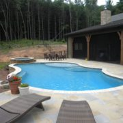 Exposed Beam Gunite Pool