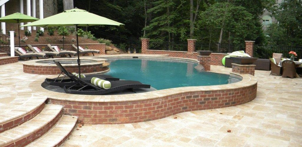 Negative Edge Gunite Pool