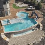 Custom Gunite Pool & Spa with Negative Edge