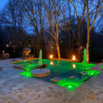 Custom Pool with Fire bowls